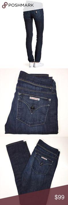 "Hudson Collin Skinny Jeans Dark wash denim jeans.  Collin skinny.  Size 29.  Inseam 31"".  Waist: (flat across) 15"" Rise:  (waist to crotch) 7 1/2"" Hip:  (across below zipper) 18 1/2"" Leg Opening:  (flat across hem) 5 1/2"" Inseam: (crotch to hem) 31""  Fabric content:  98% cotton/2% elastan  Style #:  W422DHA Hudson Jeans Jeans Skinny"