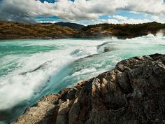 Salto Baker, a large rapid on the Baker River, shows the raw power of a river that has the highest flow in Chile.