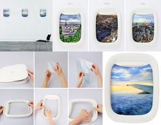 Airplane Window Picture Frames - Absolutely adore this idea!