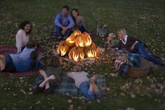 "cool idea! pumpkin ""bonfire"" #fall #halloween"