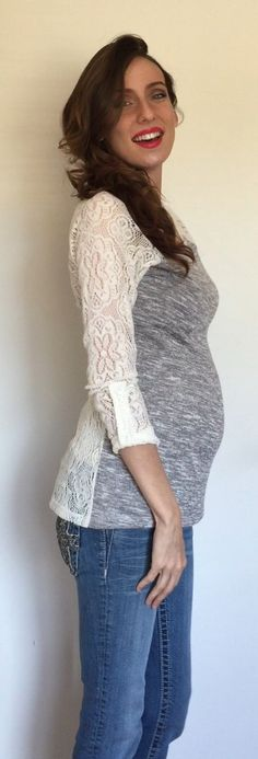 Casual baby bump style!