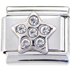 Clearly Charming Dice Italian Charm Bracelet Link