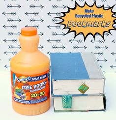 Did you know that you can emboss plastic?? Turn a SunnyD bottle into unbreakable plastic bookmarks!  #KeepItSunny #Pmedia #ad