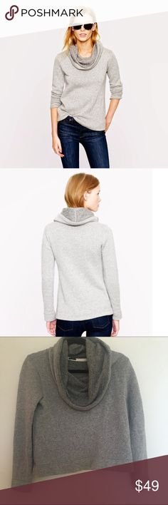 ✨HP✨J Crew Funnelneck Hoodie Sold out hard to find Jcrew hoodie. Sweater meets sweatshirt in this super comfy and cute piece. In like-new condition, worn once. Size small. ✨Lazy Days Host Pick!✨ J. Crew Sweaters Cowl & Turtlenecks