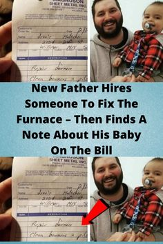 New #Father Hires Someone To Fix The #Furnace – Then Finds A #Note About His #Baby On The Bill Cute Funny Babies, Stylish Hoodies, Tattoo Fails, Disney Princess Pictures, New Fathers, Celebrity Outfits, Dance Videos, Cute Casual Outfits, Butt Workout