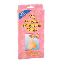 $1.00 Disposable Diaper Bags, 75-ct. Boxes at DollarTree.com (easy garbage disposal on the go!)
