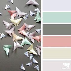 { color flutter } image via: design-seeds Colour Pallette, Colour Schemes, Color Combos, Color Patterns, Design Seeds, Paleta Pantone, Color Concept, Logo Design, Colour Board