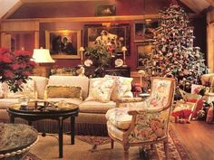 Charles Faudree...CF's sister's house dressed for Christmas...fabulous club room!