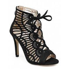 #AdoreWe #GearBest - #Gearbest Stiletto Heel Peep Toe Caged Sandals - AdoreWe.com