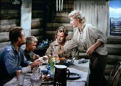 Van Heflin, Brandon de Wilde, Alan Ladd, Jean Arthur - Shane.