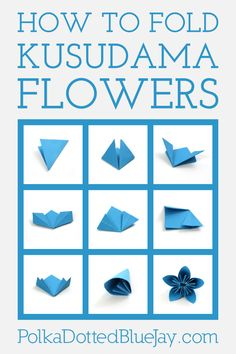 How to fold kusudama orimagi flowers with step by step instructions and photos #BringTheTropicsHome #ad