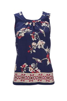 Oriental print style blouse...