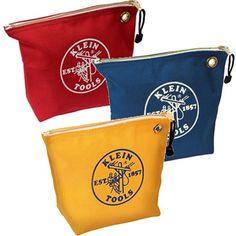 Amazon.com: Klein Tools 5539CPAK 3 Pack of Assorted Canvas Zipper Bags: Home Improvement