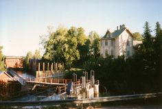 Verla Groundwood and Board Mill, Kouvola, Kymenlaasko, Finland (since Helsinki, Verona, San Francisco Skyline, Taj Mahal, Europe, Boat, House Styles, World, Places