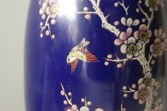 Japanese Vase. Indigo Blue Vase. Vintage by theenchantedfigtree, $25.00