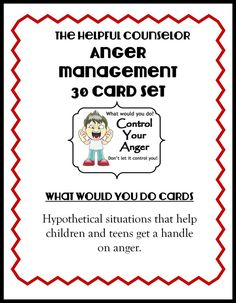 Anger Management Activity: Free Problem Solving Cards Anger Management Free Printable: Problem Solving – The Helpful Counselor Counseling Activities, Therapy Activities, Free Activities, Play Therapy, Family Therapy, Therapy Ideas, Therapy Games, Therapy Tools, Anger Management Activities For Kids