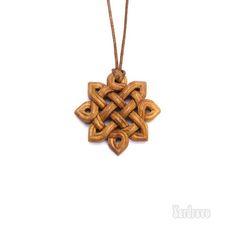 Sun Pendant. Hand Carved Celtic pendant.  Fantasy wooden