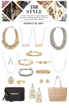 """Get styled like a STAR with Costume Designer to the hit TV show Nashville, Susie DeSanto with this """"Nashville Du Jour"""" look by Stella & Dot"""