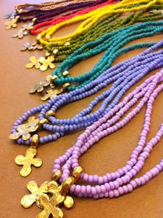 New Love, Nina Jane necklaces! New length and three new colors.