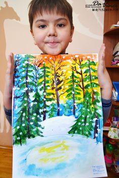 Dream Painting, Painting For Kids, Drawing For Kids, Kids Art Class, Art For Kids, Winter Art Projects, 4th Grade Art, Stick Art, Kindergarten Art