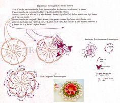 Flor Especial Motivo de Crochê