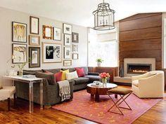 Holzboden wohnzimmer ~ Holzboden wohnzimmer einrichten ideen braunes ledersofa heller