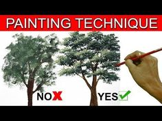 How to Paint a Tree with Acrylic lesson 14 - YouTube