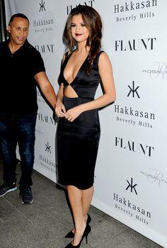 Hot! or Hmm...: Selena Gomez's Flaunt Magazine Party Cushnie et Ochs Resort 2014 Black Cutout Dress - The Fashion Bomb Blog : Celebrity Fas...