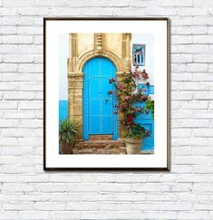 Archway/Arch/Architecture/Moroccan Wall/Door/Arabic Door/Art Boho/Marrakesh/Blue Door/Flowers As You Like, Just In Case, Frame Download, Arch Architecture, International Paper Sizes, Etsy App, Marrakesh, Beach Trip, All Design