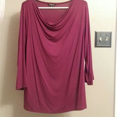 Brand New Burgundy Blouse 95% Rayon 5% Spandex. Size 16/18 George Tops Blouses