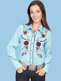 Retro show shirt  Garden Beauty : Womens Scully® Western Shirt