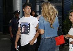 Joe Jonas and his girlfriend Gigi Hadid attend the Williams sisters match on day nine of the 2015 US Open at USTA Billie Jean King National Tennis...