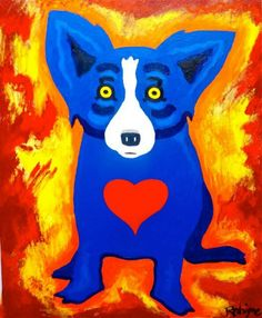 Blue Dog In Love