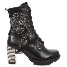 M.TR071-C1 New Rock Trail Skull Boots