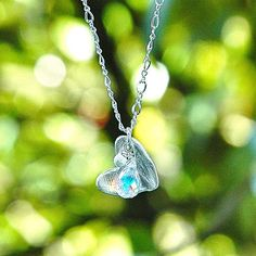 NEW Sterling Silver Rainbow Heart Pendant / Quartz by shopshrew