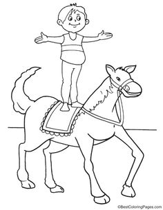 Trapeze artist 1 coloring page coloring pages Pinterest Free