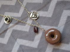 Cooper's Favorite Things necklace inspired by by TheHoneyBeeCrafts Apple Cobbler, Donut Glaze, Owl Pendant, Antique Silver, Silver Metal, Rose Earrings, Grab Bags, Black Coffee, Twin Peaks