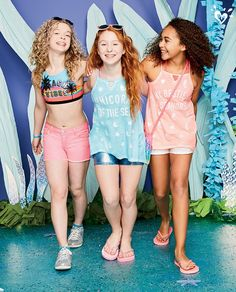 It's all about shining fabrics and high-neck details. Kids Outfits, Cool Outfits, Summer Outfits, Girls Dresses Tween, Justice Accessories, Justice Clothing, Kids Fashion, Fashion Outfits, Hot Teens