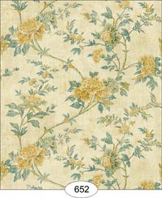 Wallpaper - Rustic Rose - Yellow [WAL0652] - $0.00 : itsy bitsy mini, Wholesale & Retail Dollhouse Wallpaper & Accessories