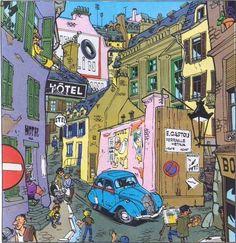 Maurice Tillieux 001 Street Scene - Maurice Tillieux - Wikipedia, the free encyclopedia
