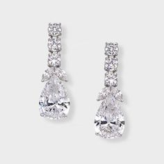 10 0 Ct Pear Shape 14k Drop Earring High Quality Cubic Zirconia Earrings Feature