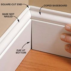Handyman tip for moldings.