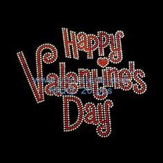 Wholesale Happy Valentine s Day Hotfix Rhinestone Transfers Rhinestone  Transfers b2b055ac3dd5