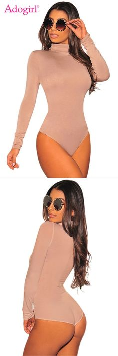 48233d341c Solid turtleneck long sleeve bodysuit comfortable stretchy women rompers  fashion basic tops autumn winter jumpsuits  women  jumpsuits     rompers   skinny ...