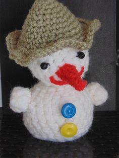 Christmas gift snowman amigurumi miniature toys knitted toy handmad knitted small miniature toys amigurumi Christmas decorations by ArtKarinaStudio on Etsy