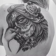 Image via We Heart It #amazing #art #arte #awesome #back #beautiful #catrina #caveira #cool #costas #flor #flower #idea #ideia #inked #inspiracao #inspiration #pretty #skull #style #tatouage #tattoo #tattooed #tatuagem #tatuaje #tatuaggio #newtattoo #fofa #t2m #tattootome