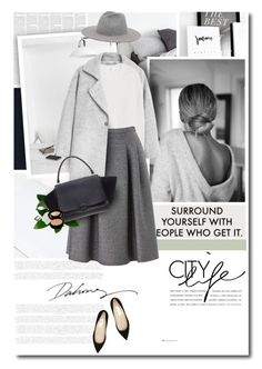 """""""Fade to Grey"""" by anna-anica ❤ liked on Polyvore featuring MANGO, Phase Eight, Jimmy Choo, CÉLINE, Giorgio Armani, women's clothing, women, female, woman and misses"""
