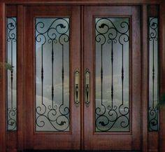 An exquisite and stylish Decorative Wrought Iron Front Door Insert Collection… Front Door Hardware, Front Door Entryway, Iron Front Door, Wooden Front Doors, House Front Door, Glass Front Door, Glass Doors, Entry Doors, Wooden Window Design