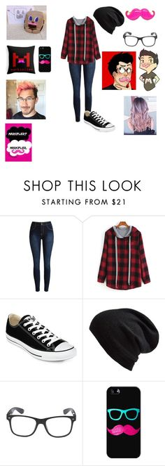 """""""Markiplier"""" by aliciakreb ❤ liked on Polyvore featuring Converse, Echo and Casetify"""