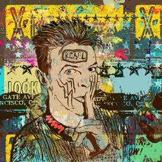 David Bowie Art, Surrealism, Comic Books, Hero, Comics, Cartoons, Cartoons, Comic, Comic Book